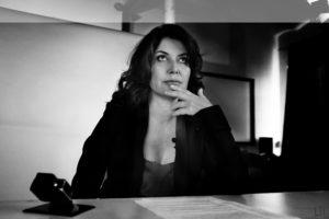 Sabina Guzzanti bianco e nero