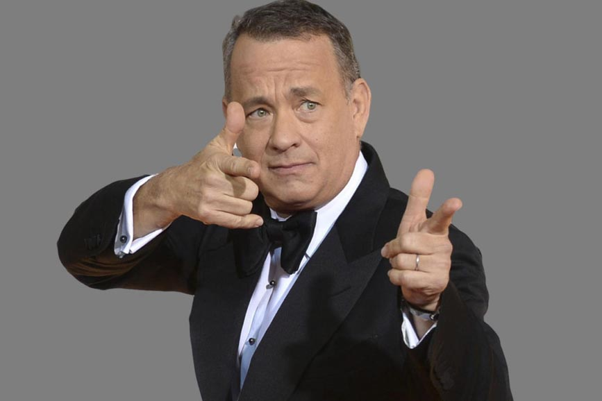 Tom Hanks finto pistolero