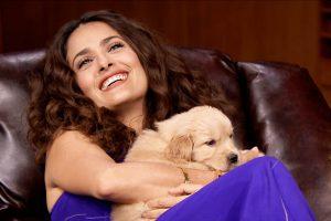 salma hayek amante dei cani