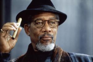 Morgan Freeman occhiali