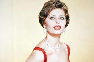 Sophia Loren vestito rosso