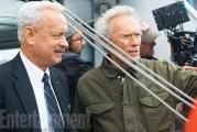 """La nuova foto dal set di """"Sully"""" con Tom Hanks e Clint Eastwood"""