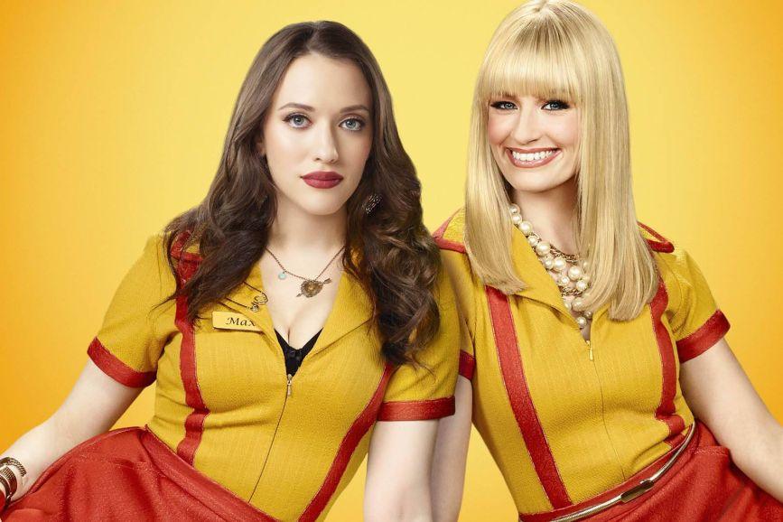 2 broke girls sfondo giallo