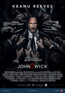 John Wick - Capitolo 2 la locandina dell'action movie