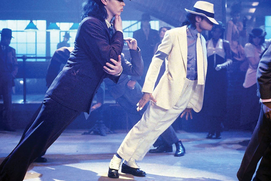 "Michael Jackson nel videoclip di ""Smooth Criminal"""