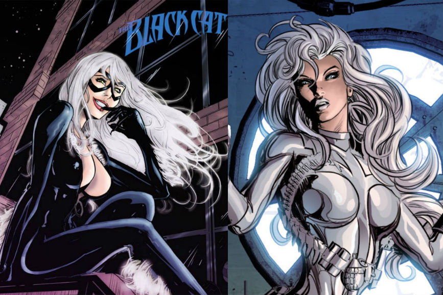Gatta Nera Silver Sable in Silver and Black