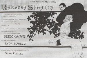 "Locandina d'epoca ""Rapsodia Satanica"""