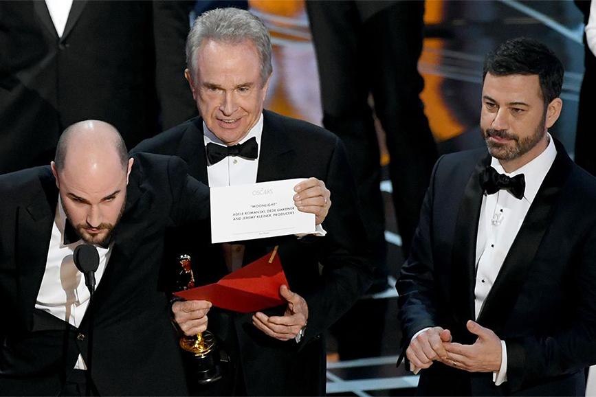 Gaffe degli Oscar 2017