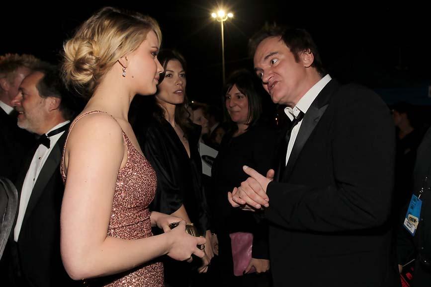 Jennifer Lawrence Quentin Tarantino evento