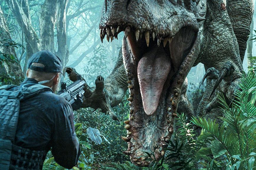Jurassic World - Il regno distrutto scena film