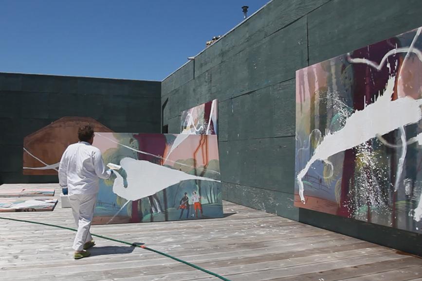 L'arte viva di Julian Schnabel pittore