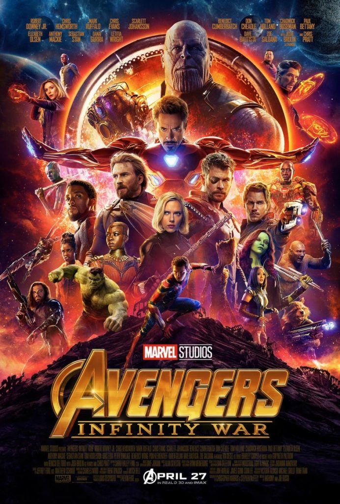 """Avengers: Infinity war"" Locandina"