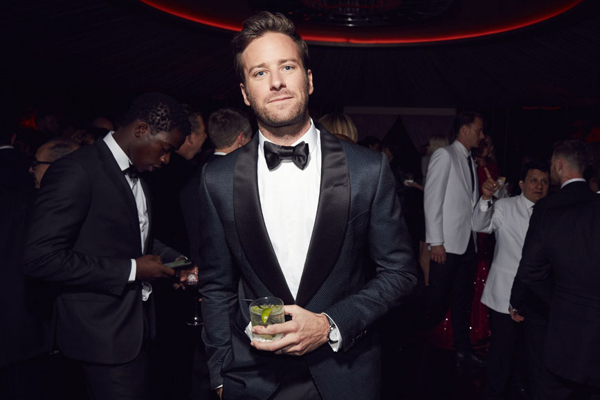 Armie Hammer oscar party