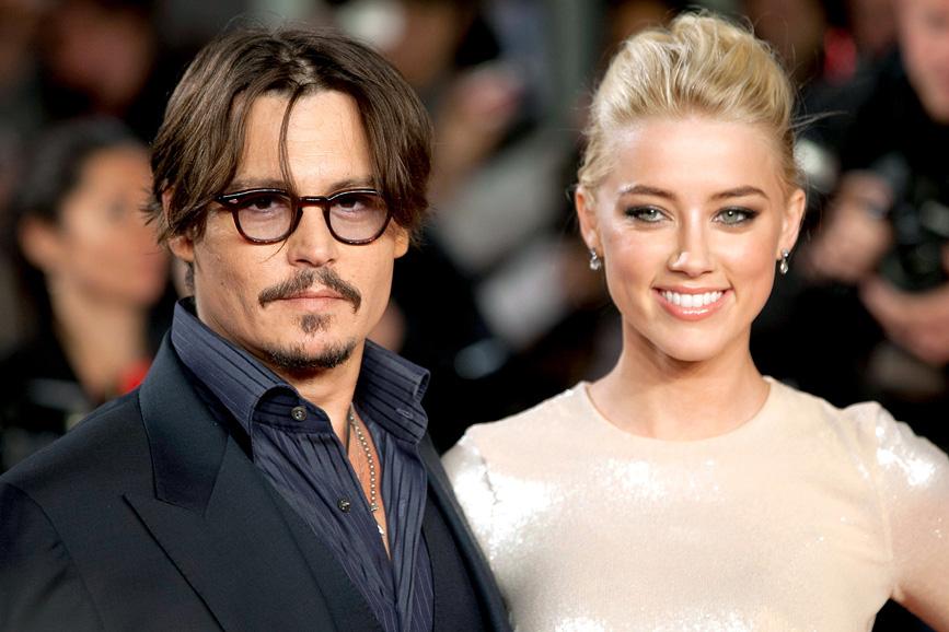 foto attori Johnny Depp e Amber Heard