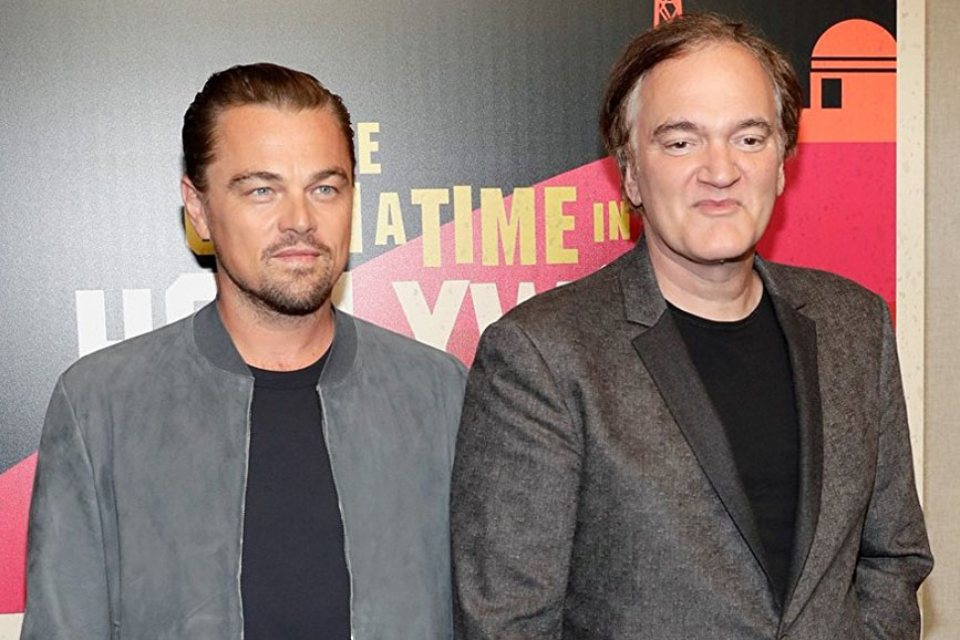 Once Upon a Time in Hollywood DiCaprio e Tarantino